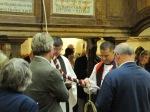 Bishop Jonathan dedicates the new bell at Minstead