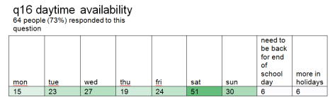 q16 daytime availability